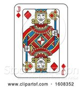 Vector Illustration of Jack of Diamonds Playing Card by AtStockIllustration