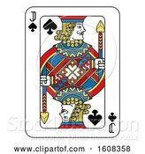 Vector Illustration of Jack of Spades Playing Card by AtStockIllustration