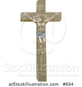 Vector Illustration of Jesus Nailed on the Crucifix by AtStockIllustration