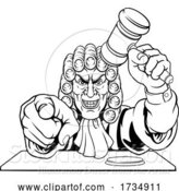 Vector Illustration of Judge Character by AtStockIllustration