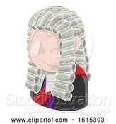 Vector Illustration of Judge Guy Avatar People Icon by AtStockIllustration