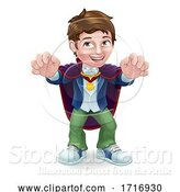 Vector Illustration of Kid Boy Child in Vampire Halloween Costume by AtStockIllustration