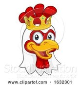 Vector Illustration of King Chicken Rooster Cockerel Bird Crown by AtStockIllustration