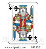 Vector Illustration of King of Clubs Playing Card by AtStockIllustration