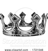 Vector Illustration of King Royal Crown Vintage Retro Style Illustration by AtStockIllustration