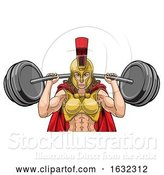 Vector Illustration of Lady Spartan Trojan Sports Mascot by AtStockIllustration