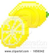 Vector Illustration of Lemon Pixel Art 8 Bit Video Game Fruit Icon by AtStockIllustration