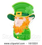 Vector Illustration of Leprechaun Guy Avatar People Icon by AtStockIllustration