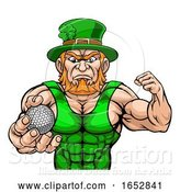 Vector Illustration of Leprechaun Holding Golf Ball Sports Mascot by AtStockIllustration
