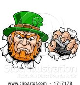 Vector Illustration of Leprechaun Ice Hockey Sports Mascot by AtStockIllustration