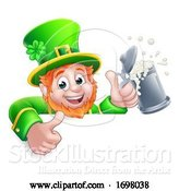 Vector Illustration of Leprechaun St Patricks Day Drink Sign by AtStockIllustration