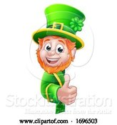 Vector Illustration of Leprechaun St Patricks Day Sign by AtStockIllustration