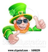 Vector Illustration of Leprechaun St Patricks Day Sunglasses Sign by AtStockIllustration