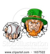 Vector Illustration of Leprechaun Tough St Patricks Day Character or Baseball Sports Mascot by AtStockIllustration