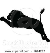 Vector Illustration of Lions Silhouette by AtStockIllustration