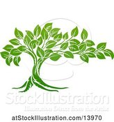 Vector Illustration of Lush Green Tree by AtStockIllustration