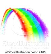 Vector Illustration of Magical Colorful Rainbow Arch by AtStockIllustration