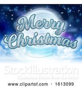 Vector Illustration of Merry Christmas Moon Graphic by AtStockIllustration