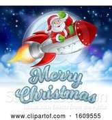 Vector Illustration of Merry Christmas Santa Claus Rocket by AtStockIllustration