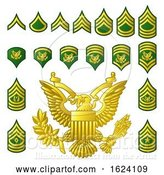 Vector Illustration of Military Army Enlisted Ranks Insignia by AtStockIllustration