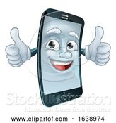 Vector Illustration of Mobile Cell Phone Mascot Character by AtStockIllustration