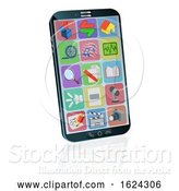 Vector Illustration of Mobile or Cell Phone Illustration by AtStockIllustration