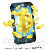 Vector Illustration of Mobile Phone Bitcoin Concept by AtStockIllustration