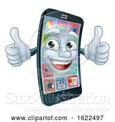 Vector Illustration of Mobile Phone Cell Mascot Character by AtStockIllustration