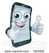 Vector Illustration of Mobile Phone Thumbs up Mascot by AtStockIllustration