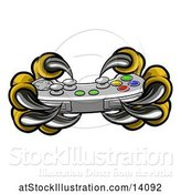Vector Illustration of Monster Claws Playing with a Video Game Controller by AtStockIllustration