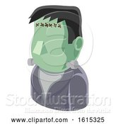 Vector Illustration of Monster Guy Avatar People Icon by AtStockIllustration