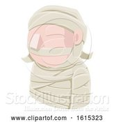 Vector Illustration of Mummy Guy Avatar People Icon by AtStockIllustration