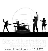 Vector Illustration of Music Band Concert Silhouettes by AtStockIllustration