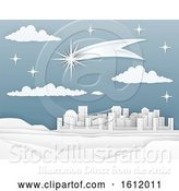 Vector Illustration of Nativity Christmas Bethlehem Paper Scene by AtStockIllustration