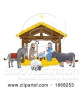Vector Illustration of Nativity Christmas Scene by AtStockIllustration