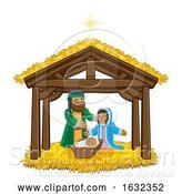 Vector Illustration of Nativity Scene Christmas by AtStockIllustration