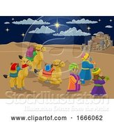 Vector Illustration of Nativity Scene Wise Men Christmas by AtStockIllustration