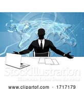 Vector Illustration of News Anchor Silhouette TV Reporter Presenter by AtStockIllustration