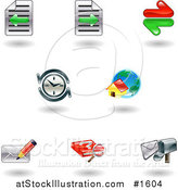 Vector Illustration of Nine Shiny Internet Browser Icons by AtStockIllustration