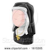 Vector Illustration of Nun Lady Avatar People Icon by AtStockIllustration