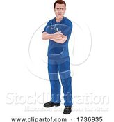 Vector Illustration of Nurse or Doctor in Scrubs with Stethoscope by AtStockIllustration