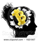 Vector Illustration of Obsessed with Bitcoin by AtStockIllustration