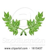 Vector Illustration of Olive Branch Wreath by AtStockIllustration