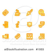 Vector Illustration of Orange Application Icons by AtStockIllustration