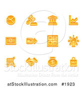 Vector Illustration of Orange Business Icons by AtStockIllustration