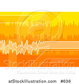 Vector Illustration of Orange, White and Yellow Sound Waves by AtStockIllustration
