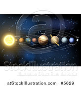 Vector Illustration of Our Solar System by AtStockIllustration