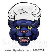 Vector Illustration of Panther Chef Mascot Character by AtStockIllustration