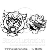 Vector Illustration of Panther Ice Hockey Player Animal Sports Mascot by AtStockIllustration