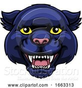 Vector Illustration of Panther Mascot Cute Happy Character by AtStockIllustration